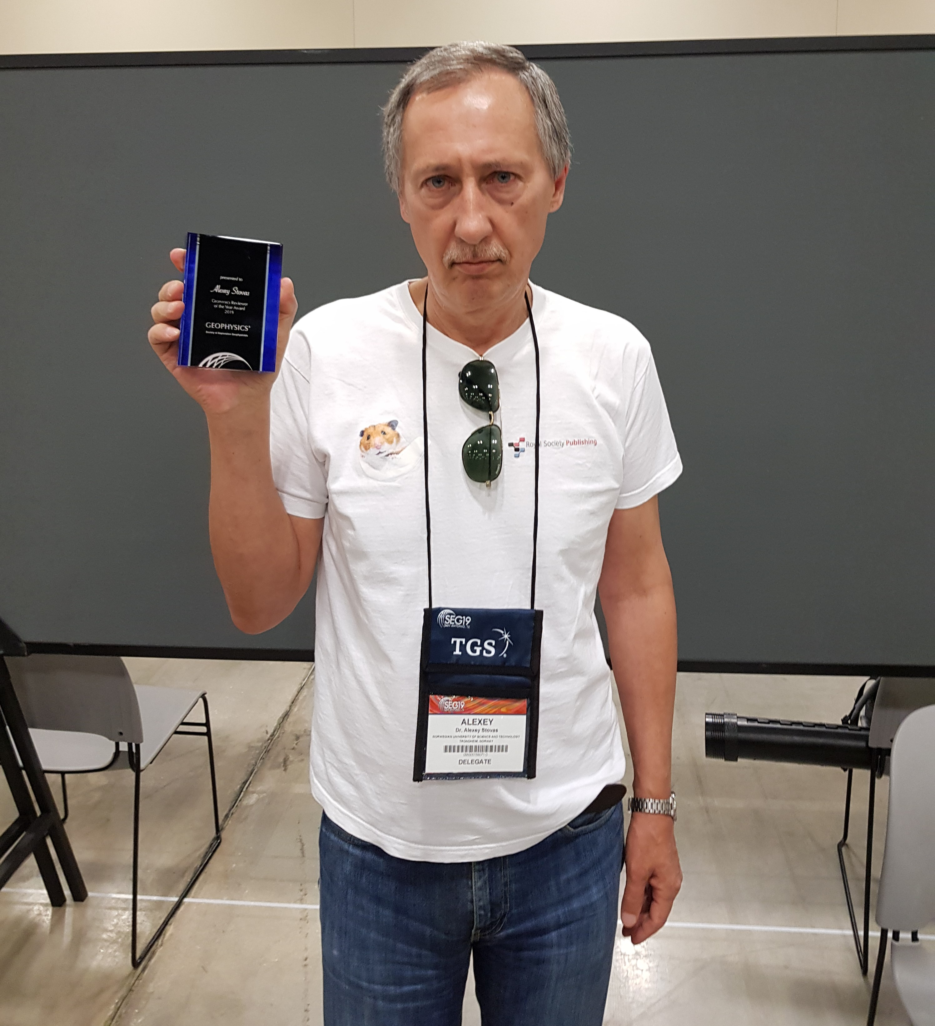 Alexey Stovas recieved «Geophysics Reviewer of the Year Award»