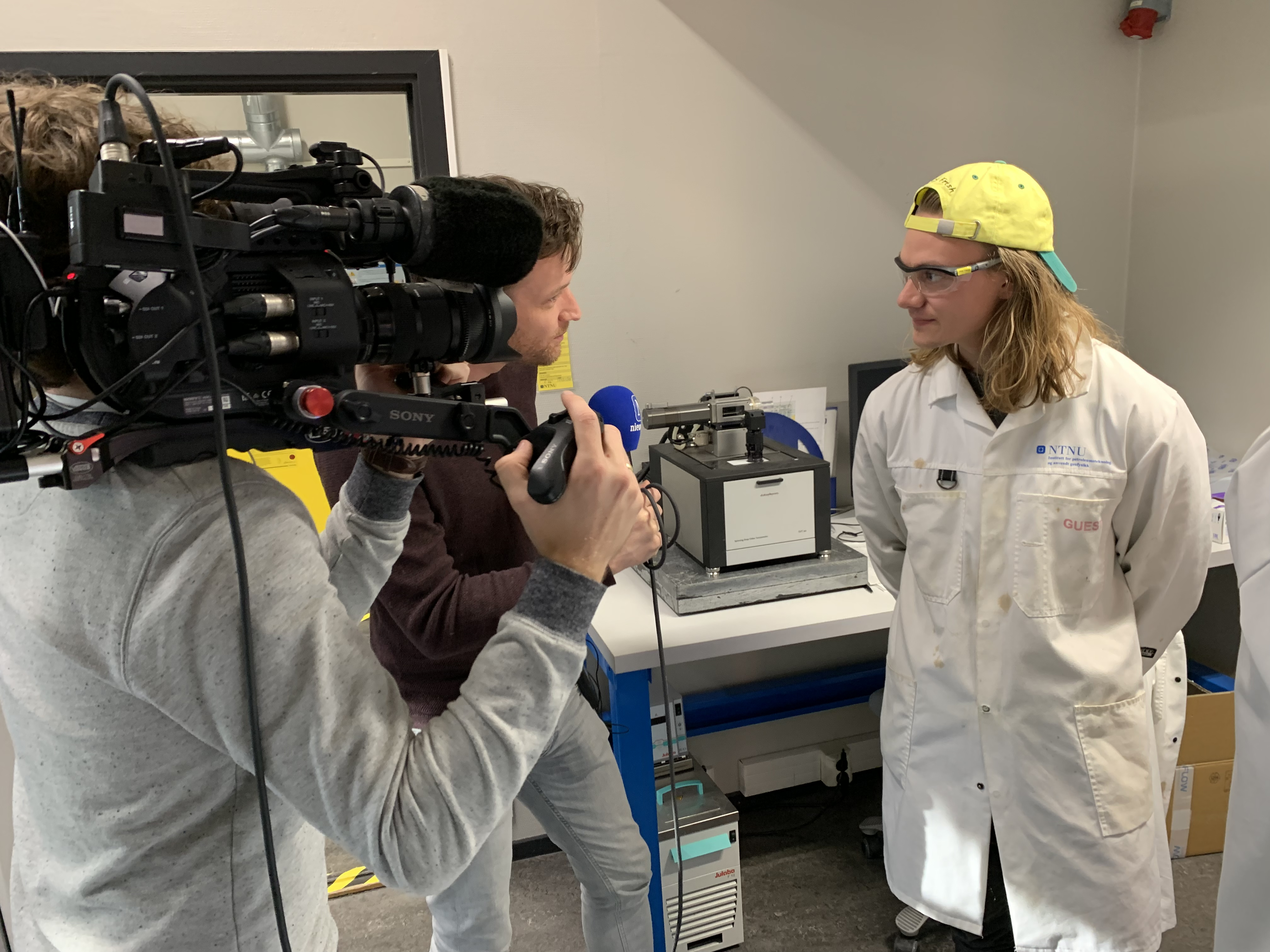 Visit from Dutch Television